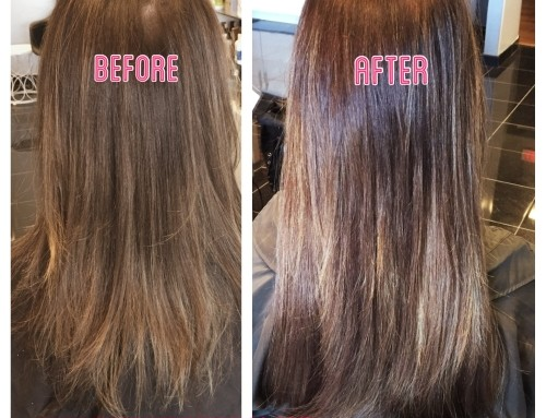 Easilengths Tape Extensions Before & After Dallas