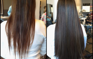 Hairdreams Fusion Extensions Before and After Dallas