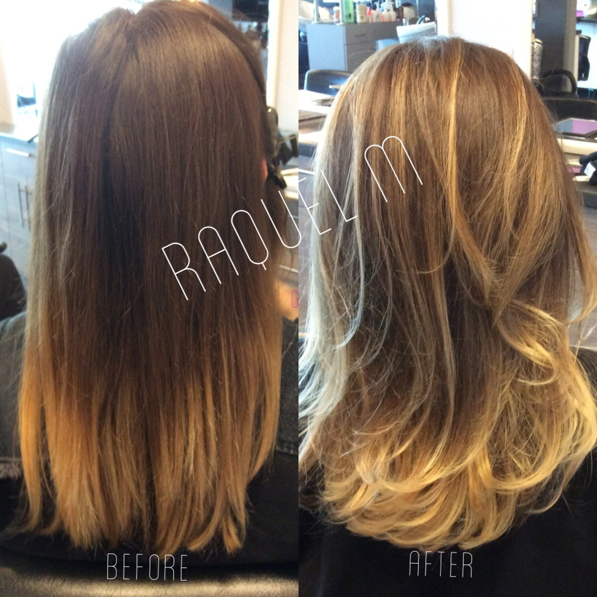 Balayage Before Amp After Dallas