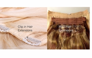 Dallas Clip in and Halo Hair Extensions