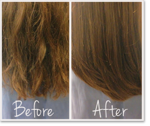 Brazilian Blowout Split End Treatment Dallas Before and After