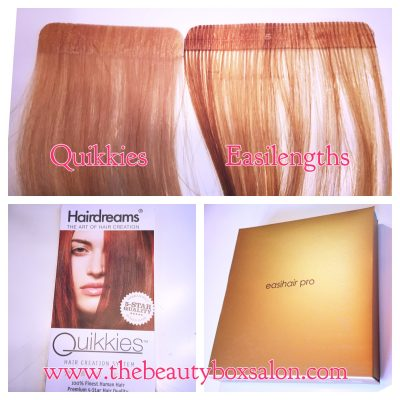 Easilengths Tape Extensions vs Quikkies Tape Extensions