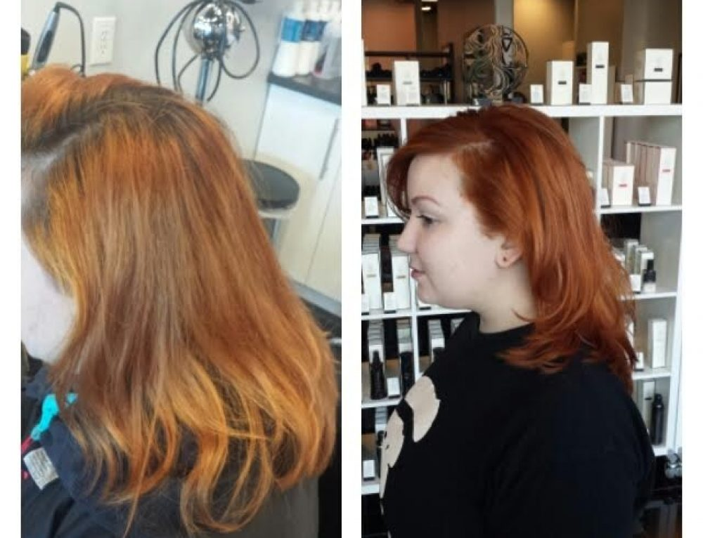 Dallas Red Head Before and After