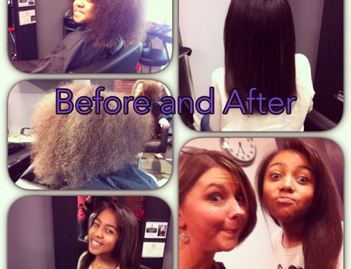 Brazillian Blowout Before and After Dallas
