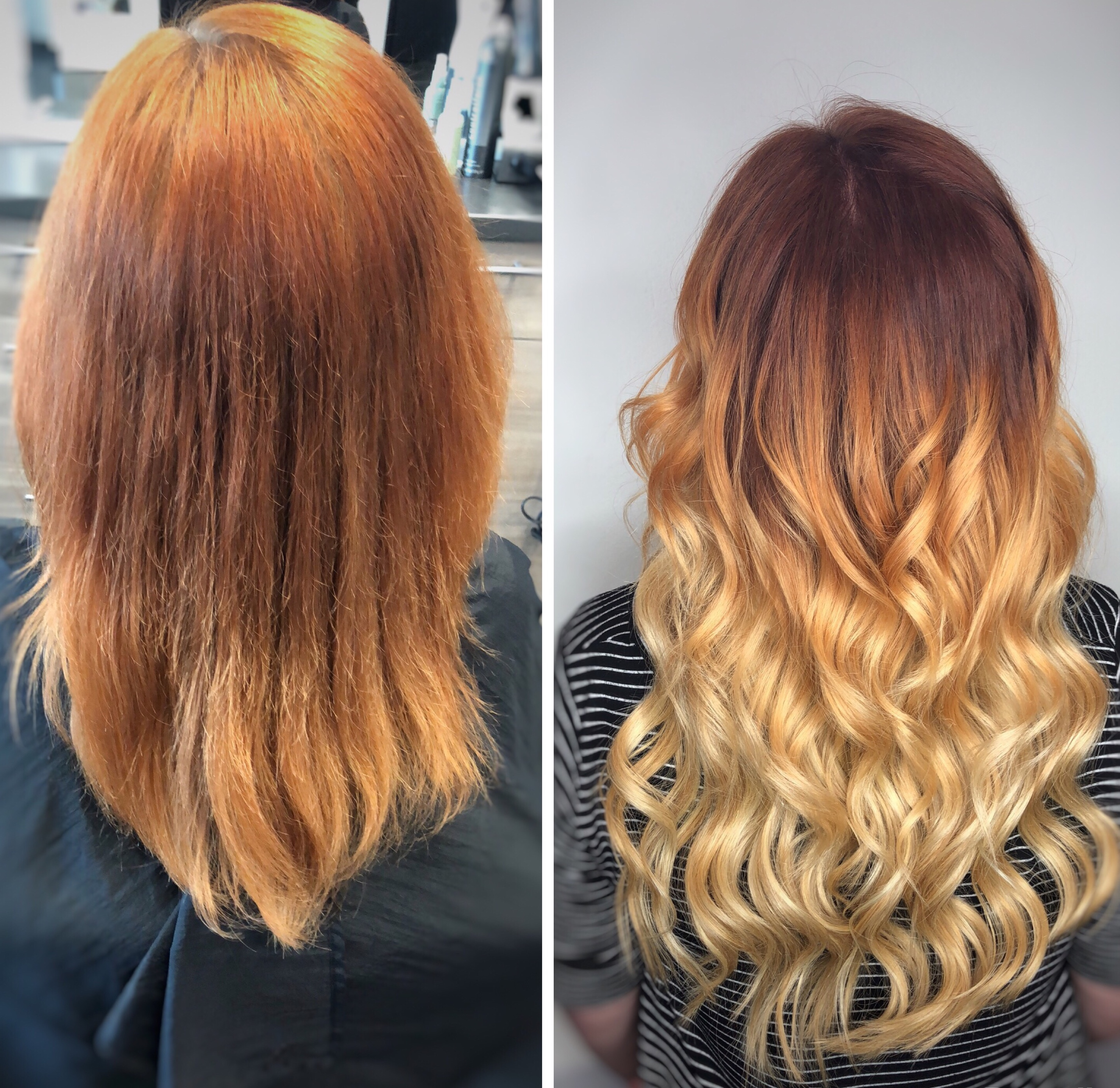 Before And After Hair Extensions Dallas